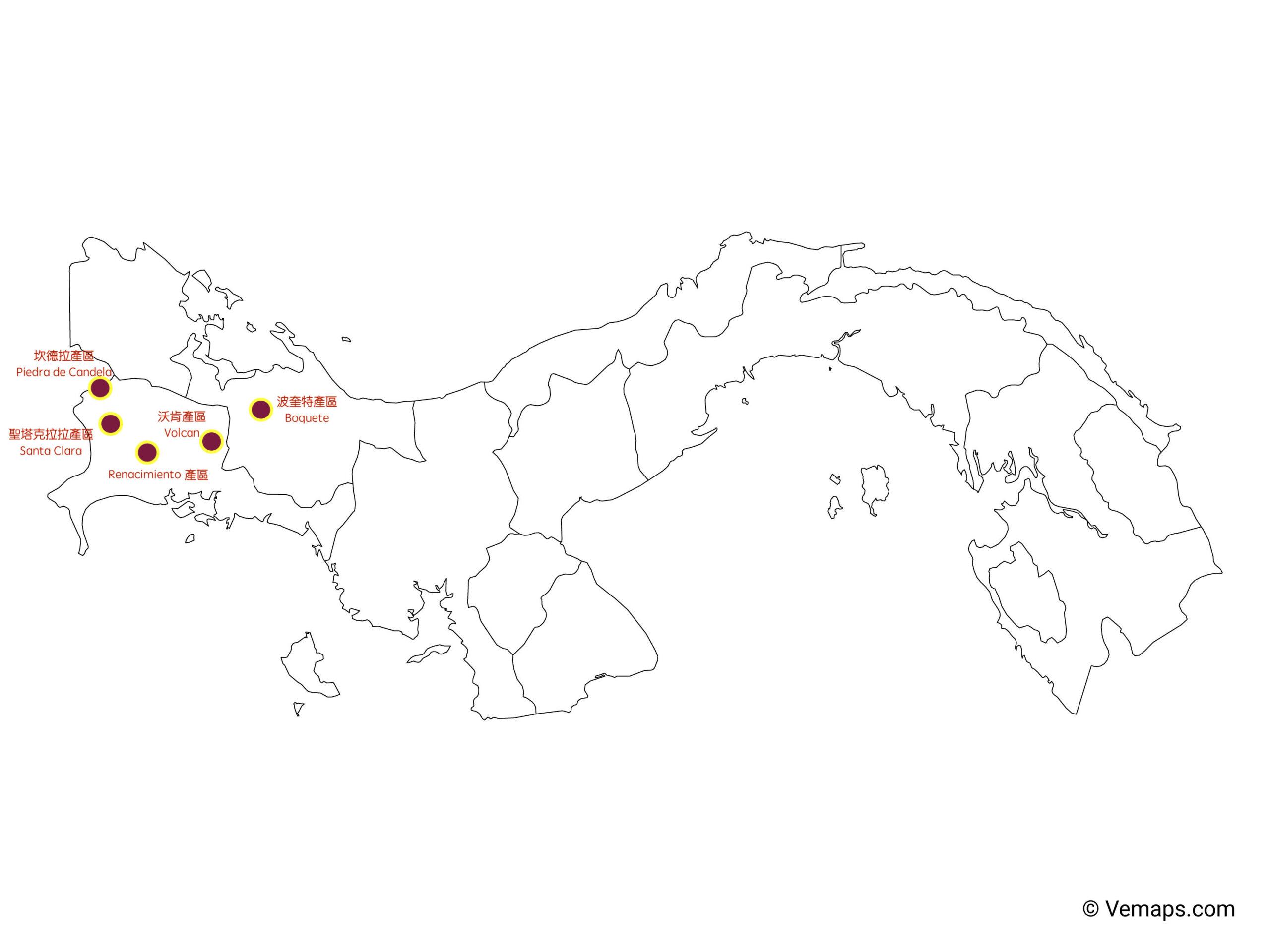 巴拿馬咖啡豆知名產區
