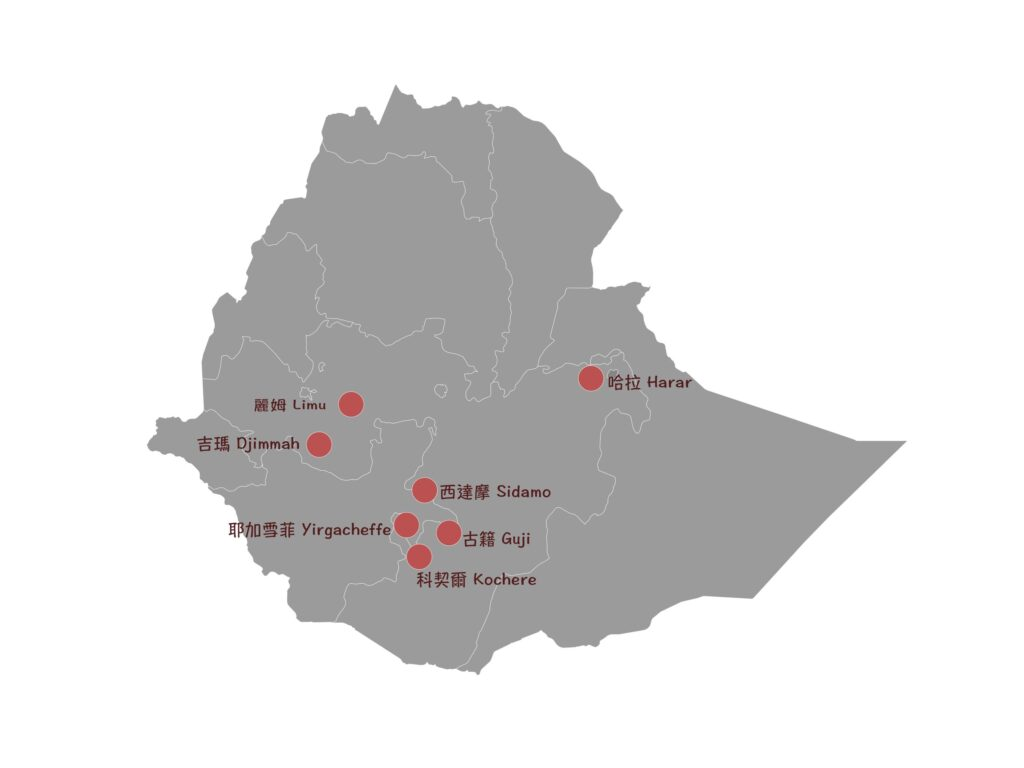 衣索比亞咖啡豆知名產區