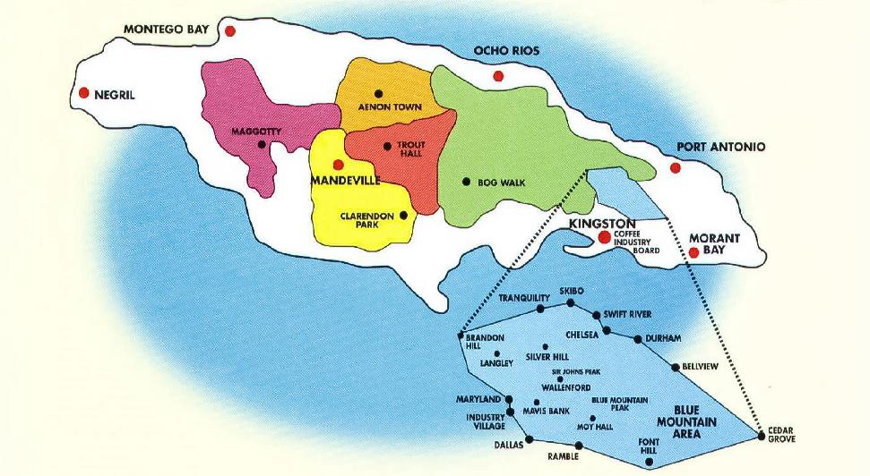 牙買加地圖